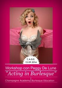 Workshop Burlesque con Peggy De Lune